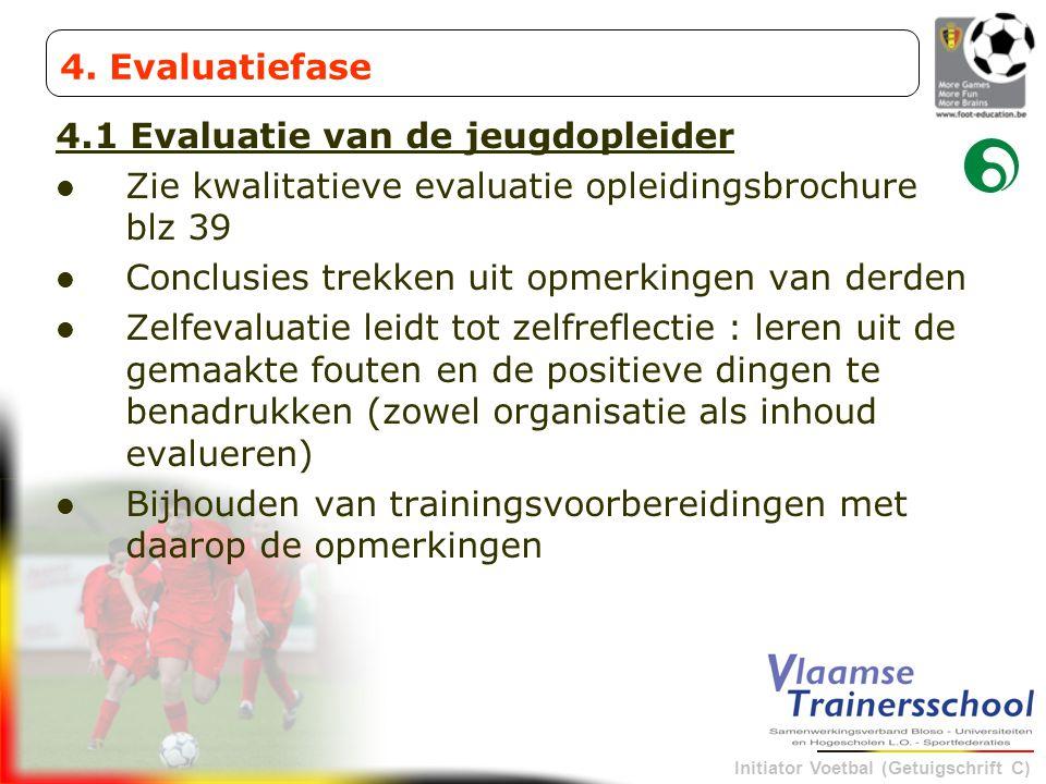4. Evaluatiefase 4.1 Evaluatie van de jeugdopleider. Zie kwalitatieve evaluatie opleidingsbrochure blz 39.