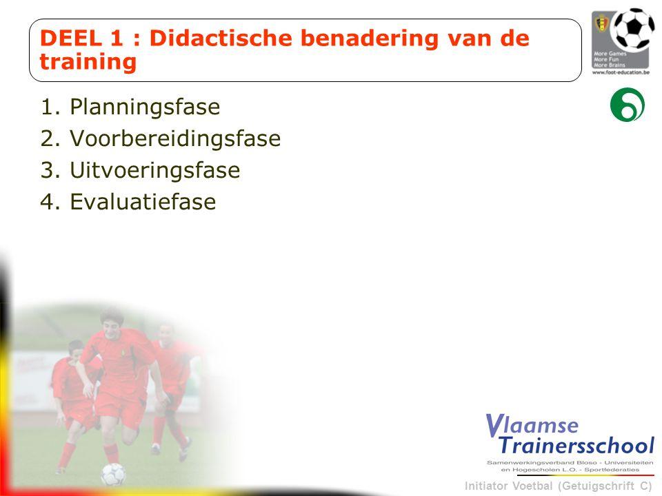 DEEL 1 : Didactische benadering van de training