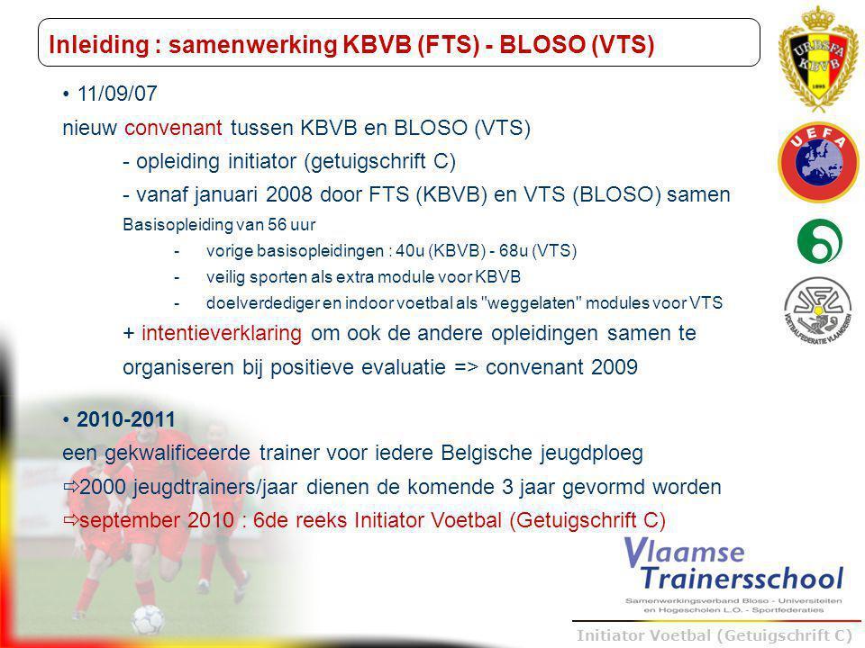 Inleiding : samenwerking KBVB (FTS) - BLOSO (VTS)