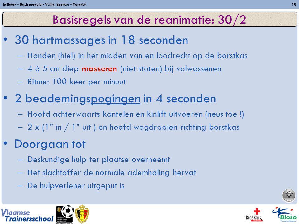 Basisregels van de reanimatie: 30/2