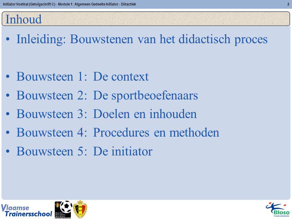 Inleiding: Bouwstenen van het didactisch proces