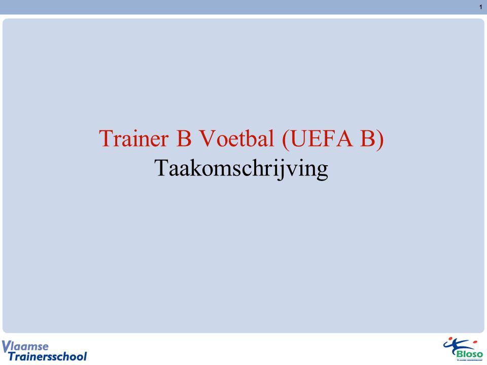 Trainer B Voetbal (UEFA B) Taakomschrijving