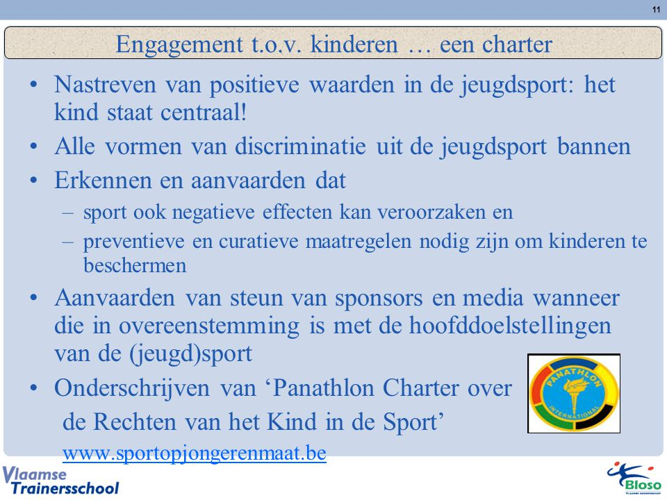 Engagement t.o.v. kinderen … een charter