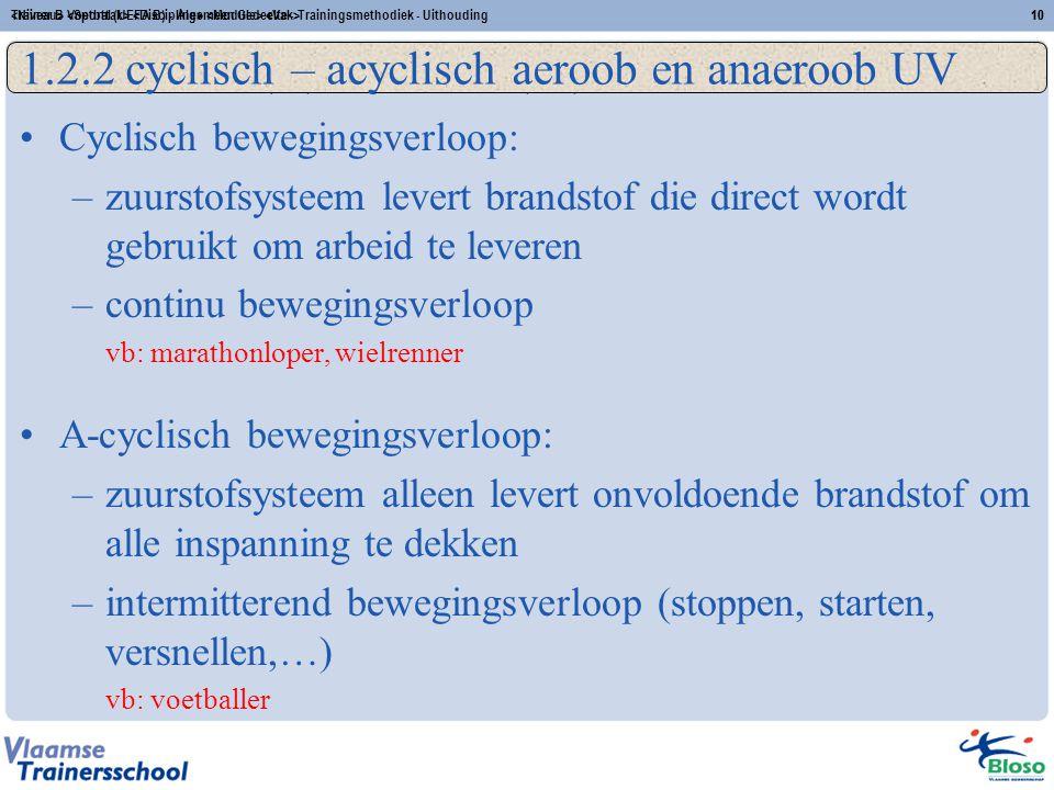 (A)-Cyclisch (an)aëroob UV