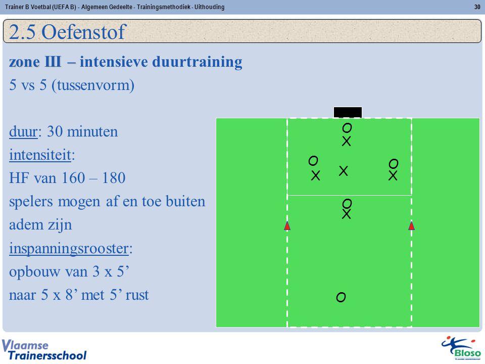 2.5 Oefenstof zone III – intensieve duurtraining 5 vs 5 (tussenvorm)