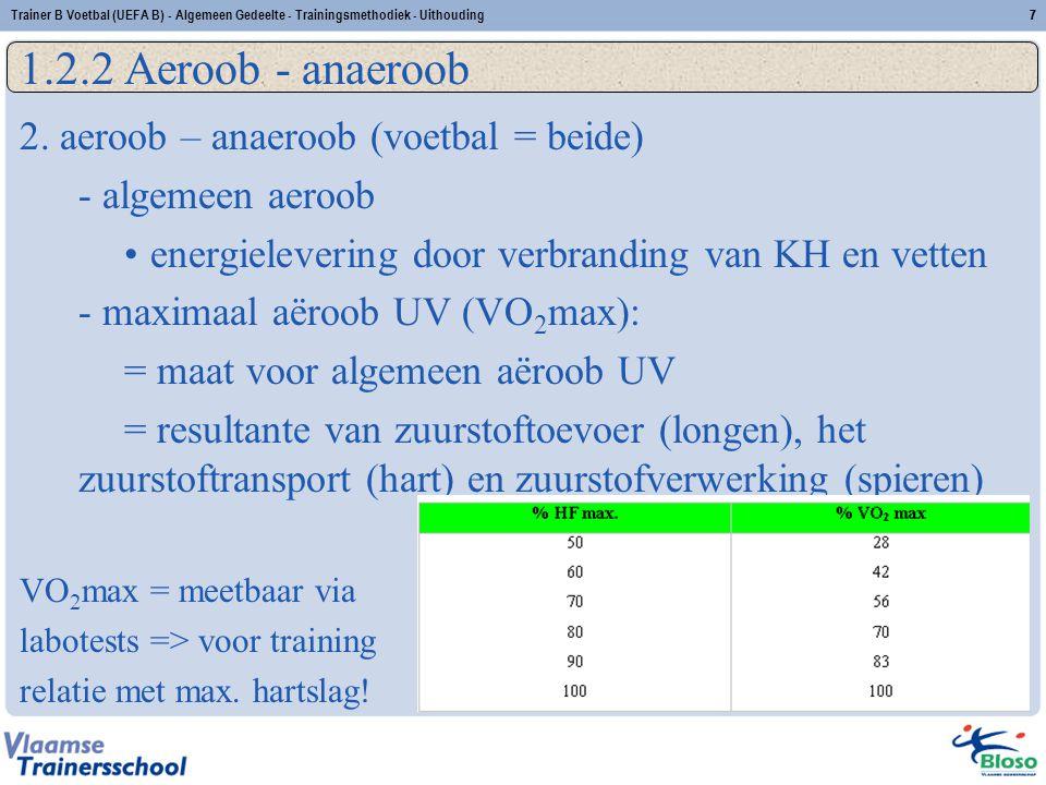 1.2.2 Aeroob - anaeroob 2. aeroob – anaeroob (voetbal = beide)