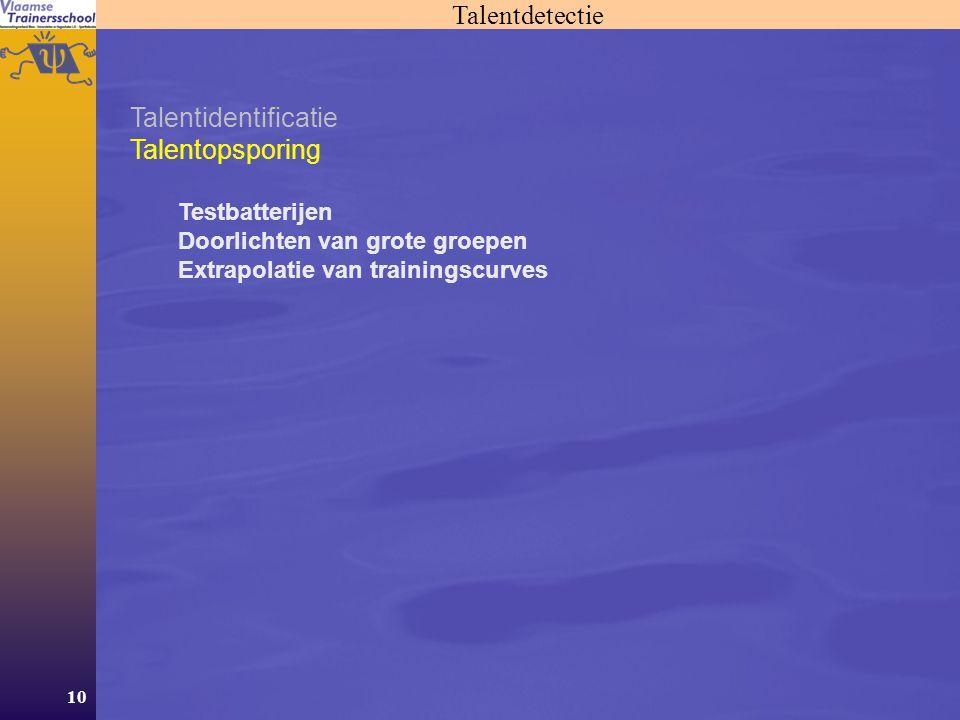 Talentdetectie Talentidentificatie Talentopsporing Testbatterijen