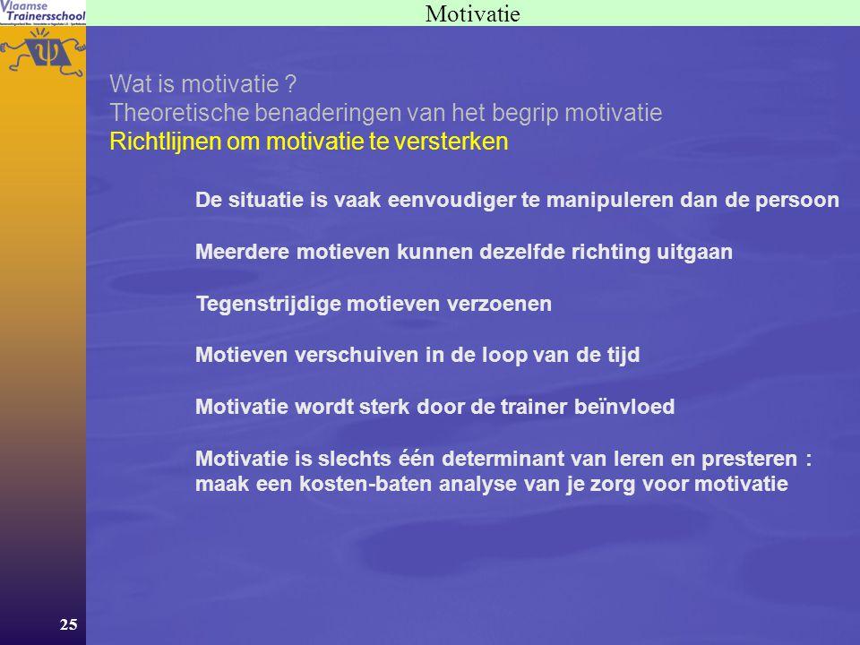 Theoretische benaderingen van het begrip motivatie