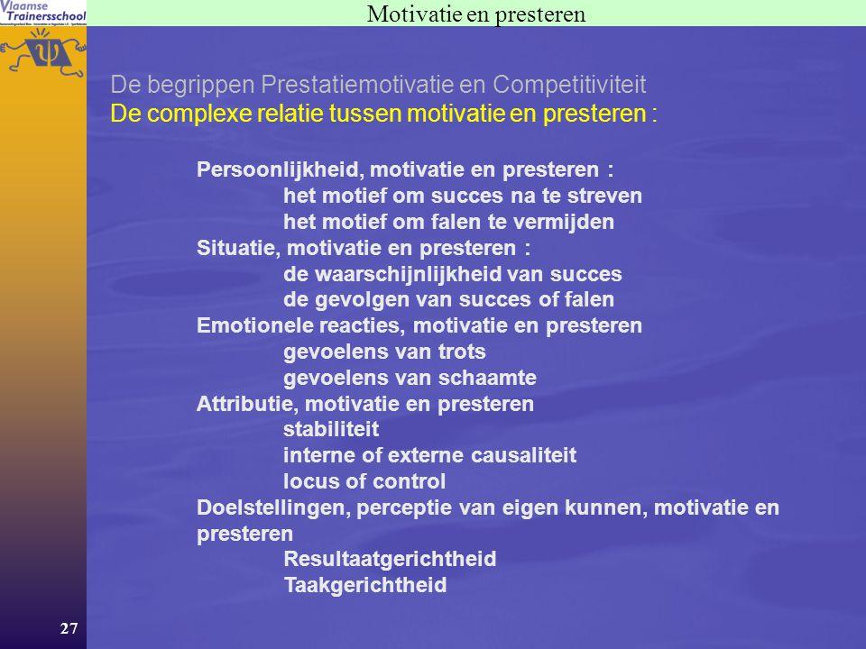 Motivatie en presteren