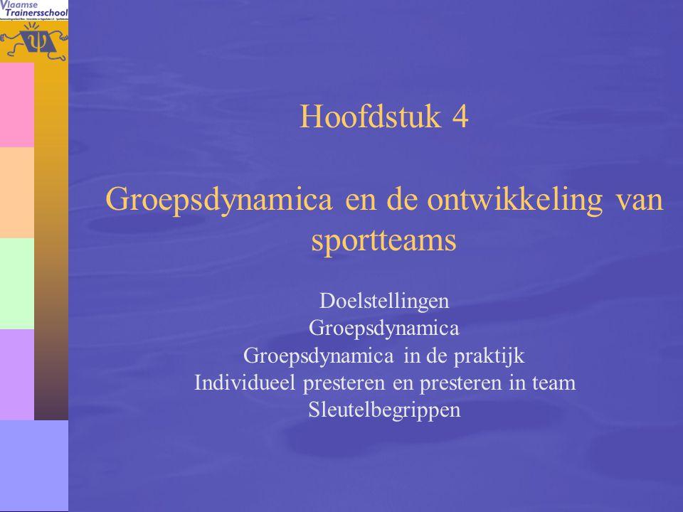 Groepsdynamica en de ontwikkeling van sportteams