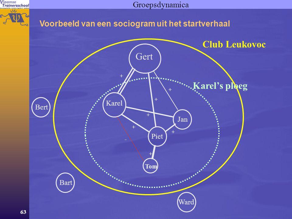 Club Leukovoc Gert Karel's ploeg Groepsdynamica