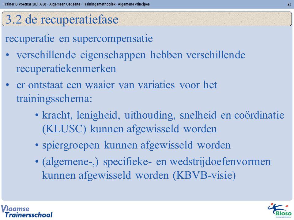 3.2 de recuperatiefase recuperatie en supercompensatie