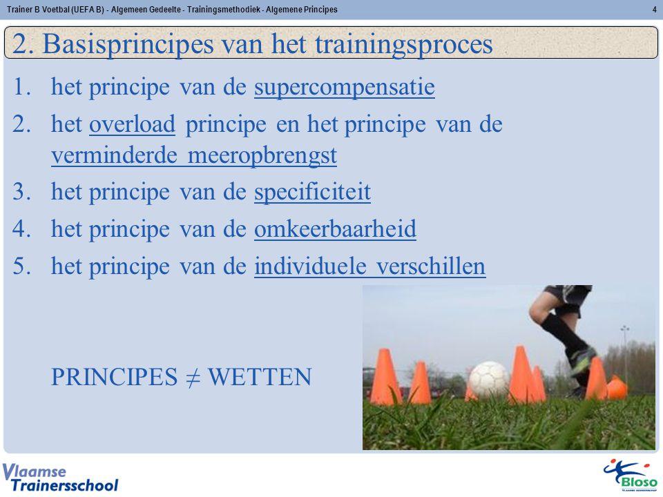 2. Basisprincipes van het trainingsproces