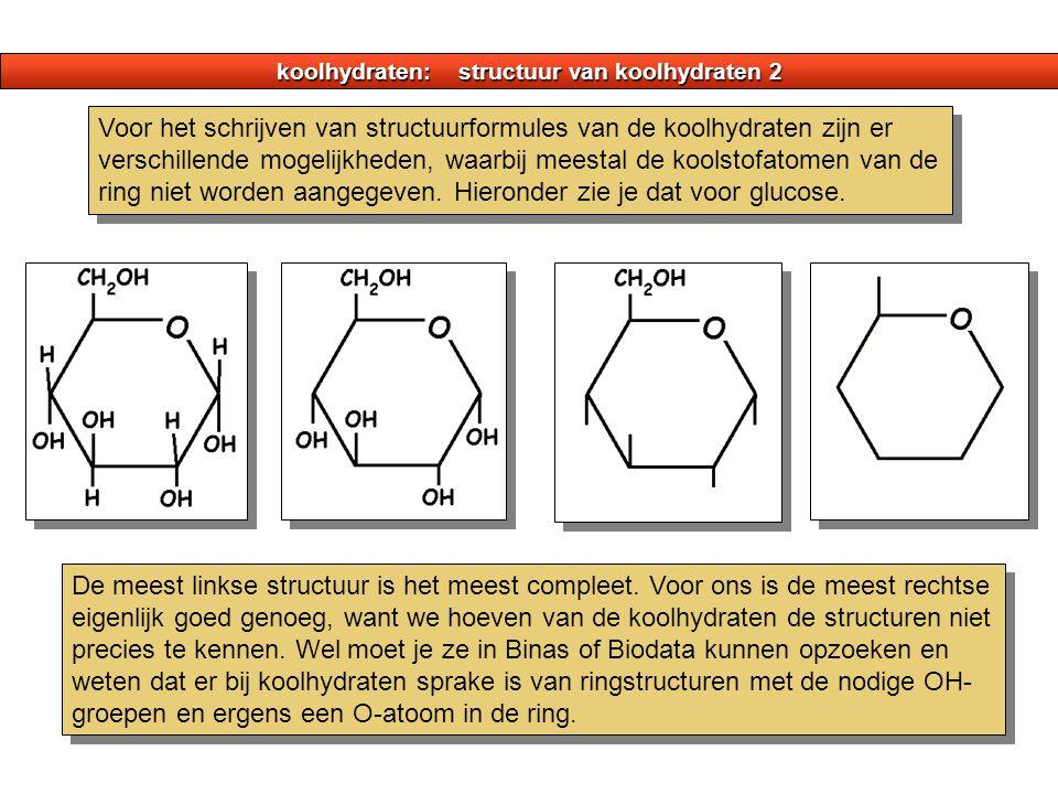 koolhydraten: structuur van koolhydraten 2