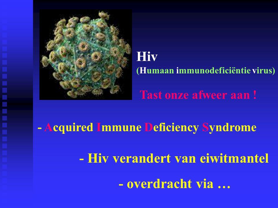- Hiv verandert van eiwitmantel