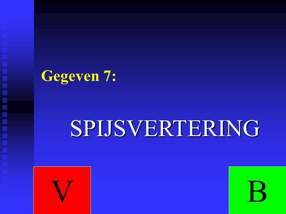 Gegeven 7: SPIJSVERTERING V B