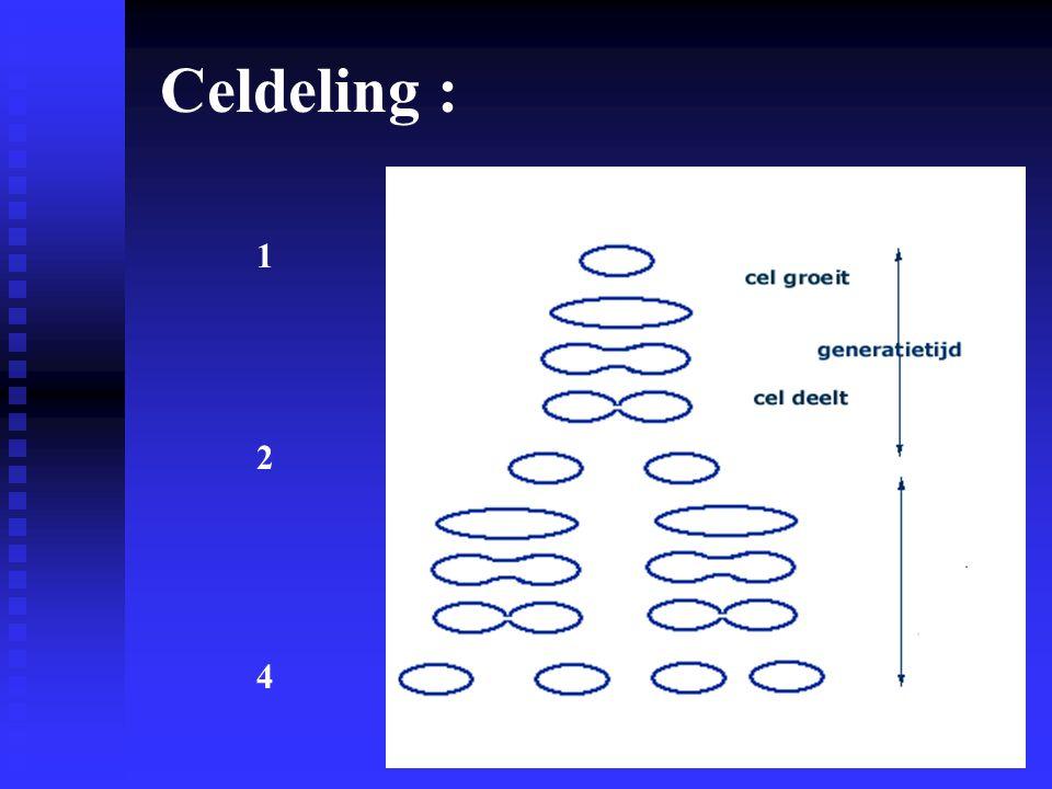 Celdeling : 1 2 4