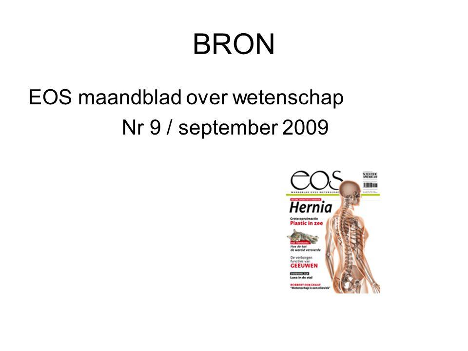 BRON EOS maandblad over wetenschap Nr 9 / september 2009