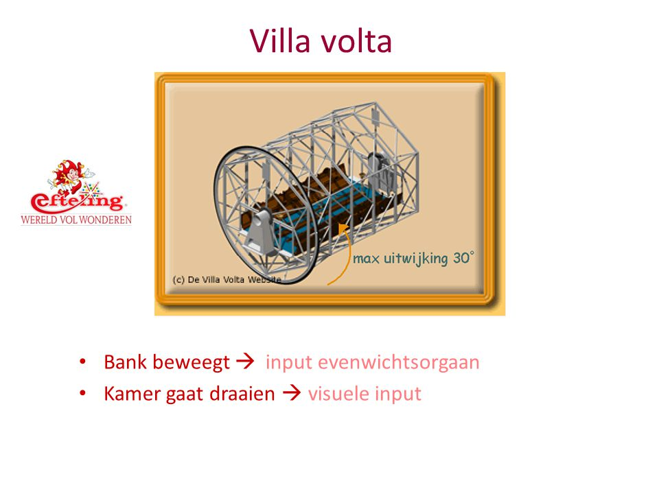 Villa volta Bank beweegt  input evenwichtsorgaan