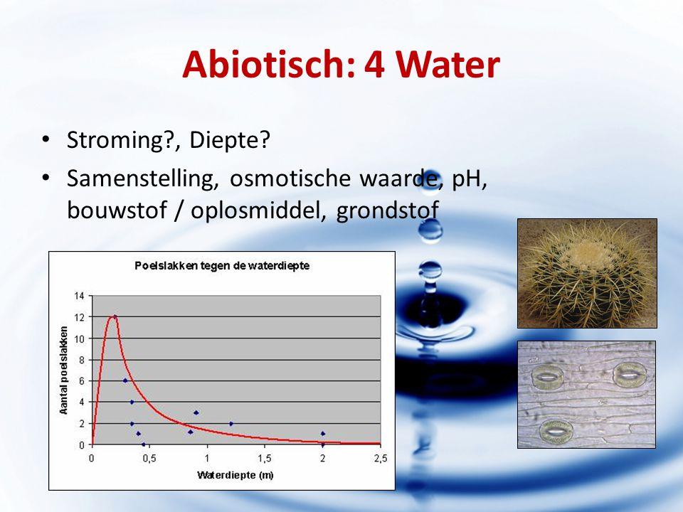 Abiotisch: 4 Water Stroming , Diepte