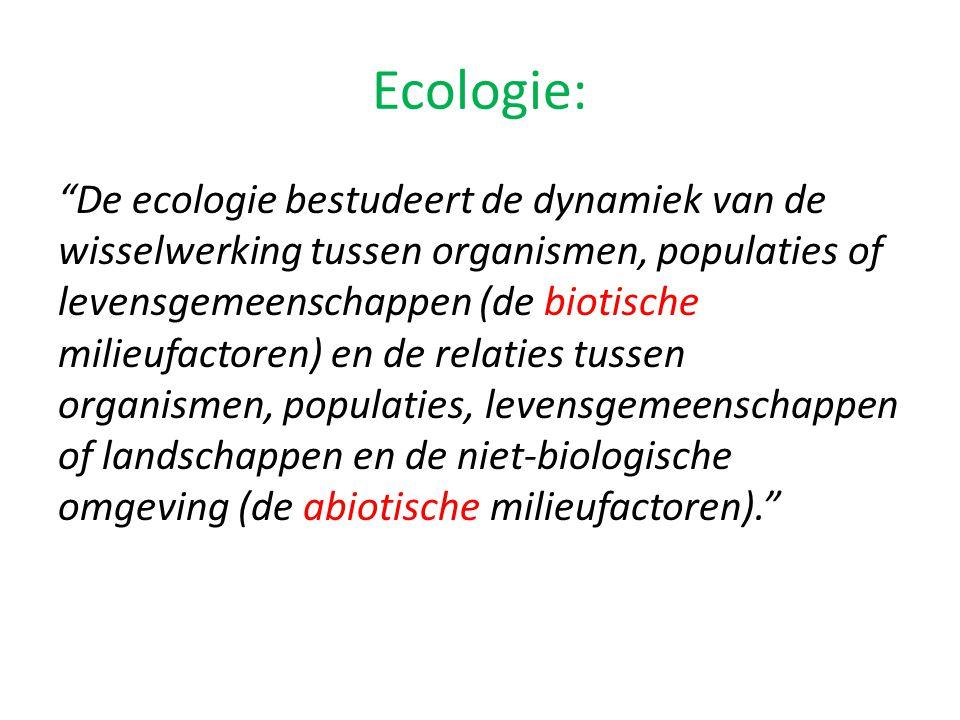 Ecologie: