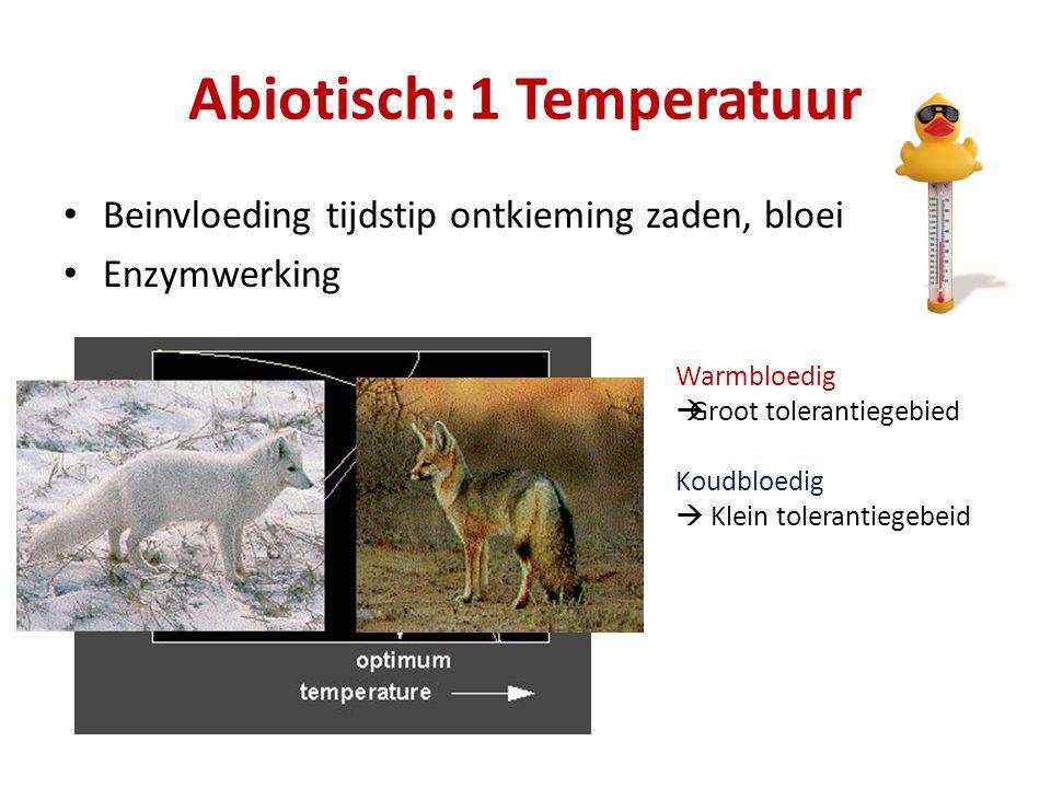 Abiotisch: 1 Temperatuur