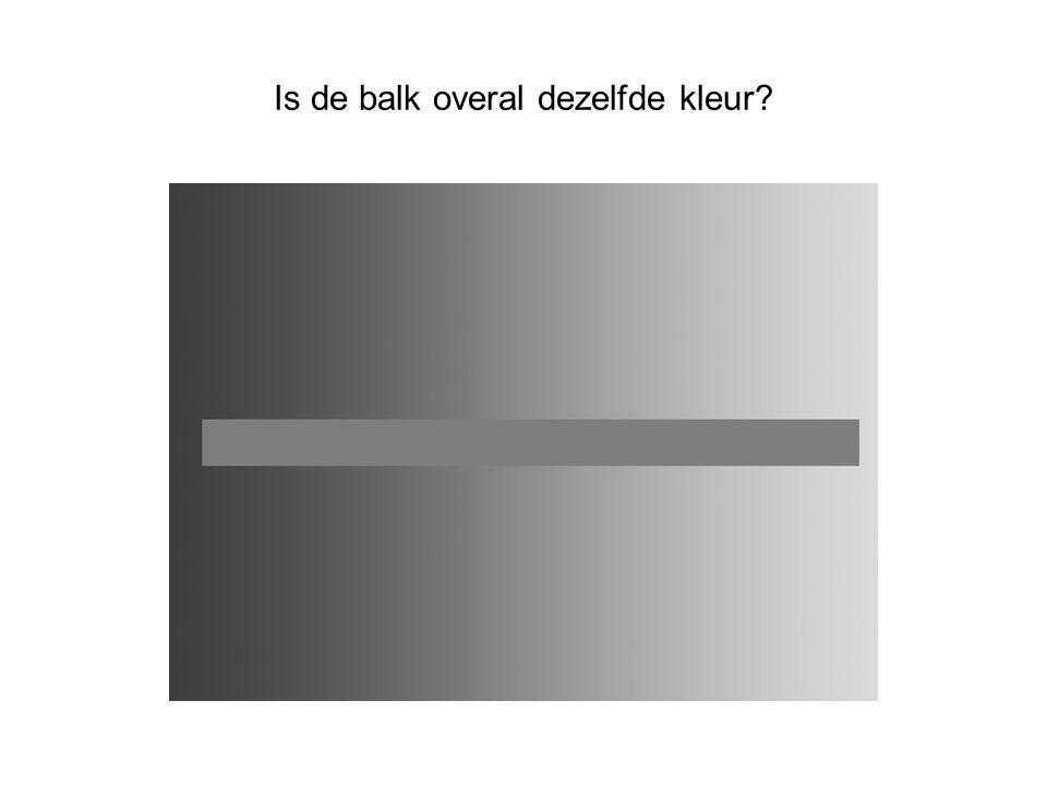 Is de balk overal dezelfde kleur