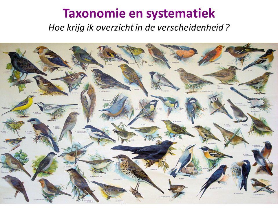 Taxonomie en systematiek Hoe krijg ik overzicht in de verscheidenheid