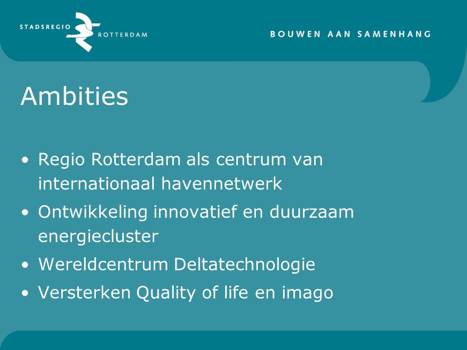 Ambities Regio Rotterdam als centrum van internationaal havennetwerk
