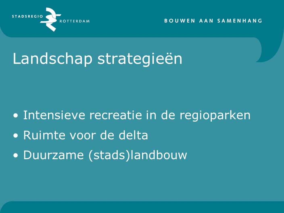 Landschap strategieën