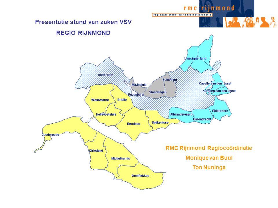 Presentatie stand van zaken VSV RMC Rijnmond Regiocoördinatie