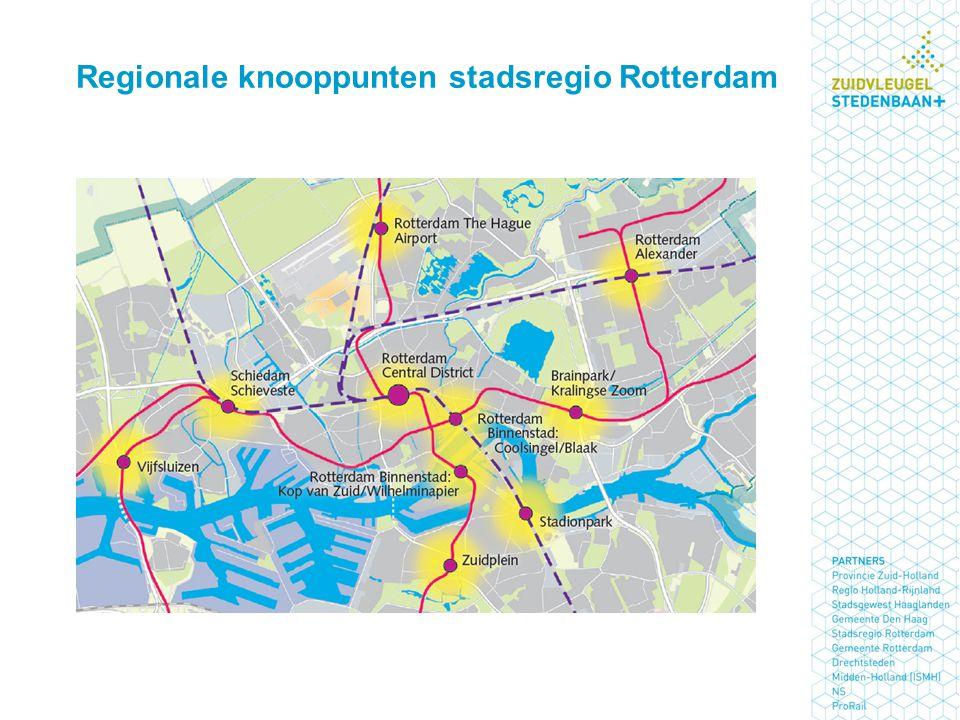 Regionale knooppunten stadsregio Rotterdam