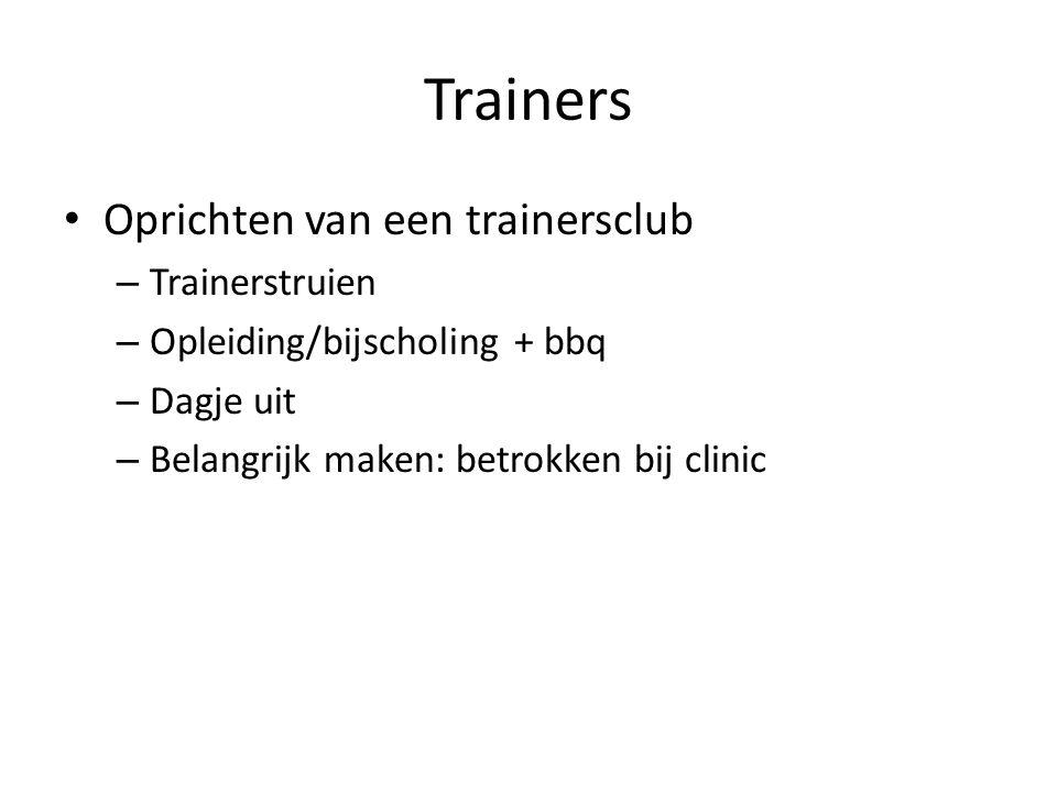 Trainers Oprichten van een trainersclub Trainerstruien