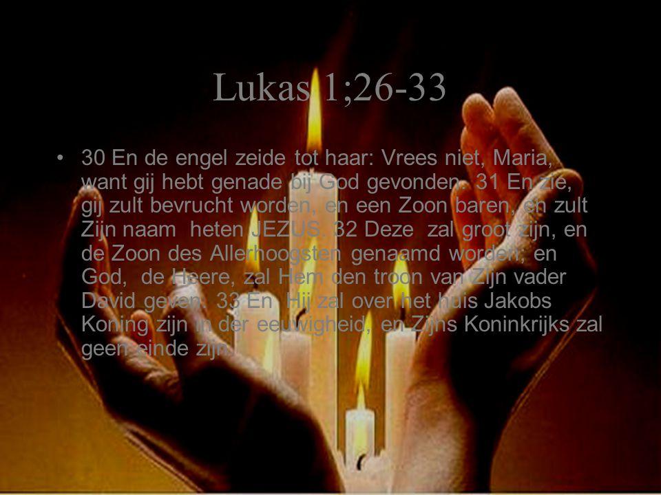Lukas 1;26-33