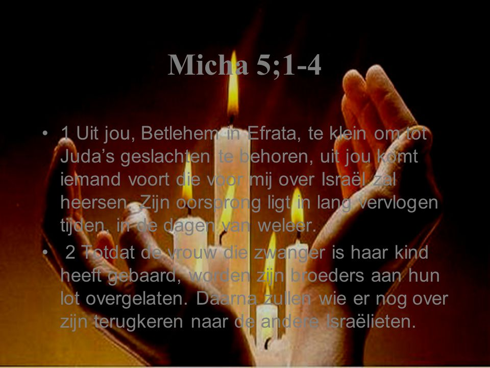 Micha 5;1-4