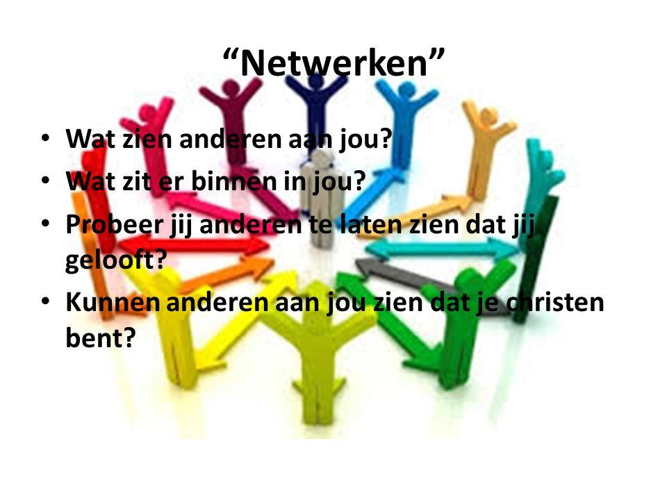 Netwerken Wat zien anderen aan jou Wat zit er binnen in jou