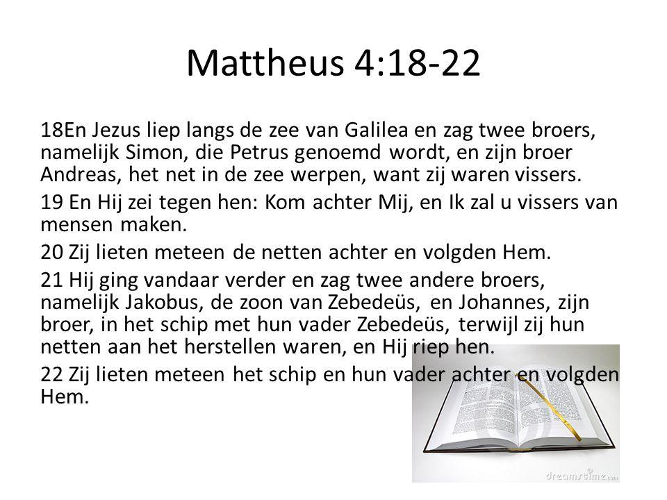 Mattheus 4:18-22