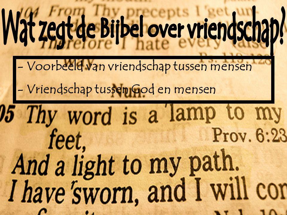 Wat zegt de Bijbel over vriendschap