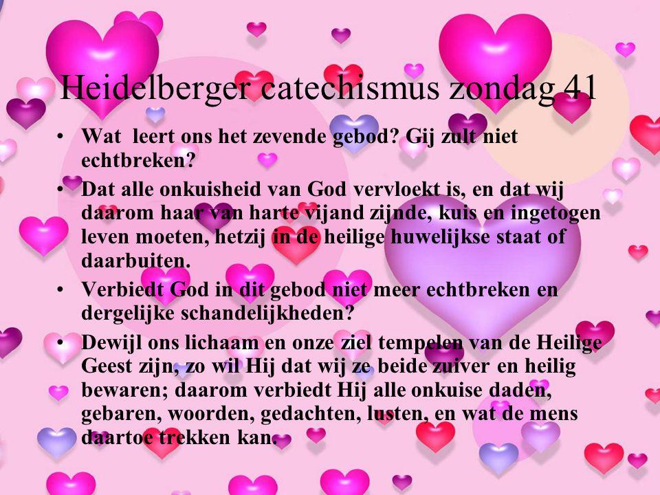 Heidelberger catechismus zondag 41