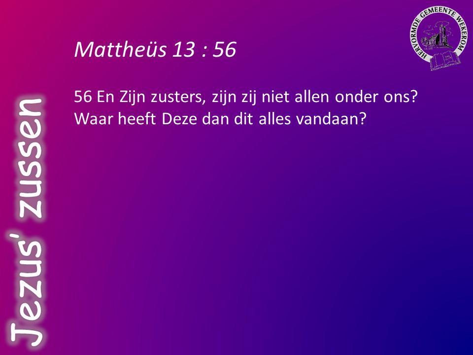Jezus' zussen Mattheüs 13 : 56
