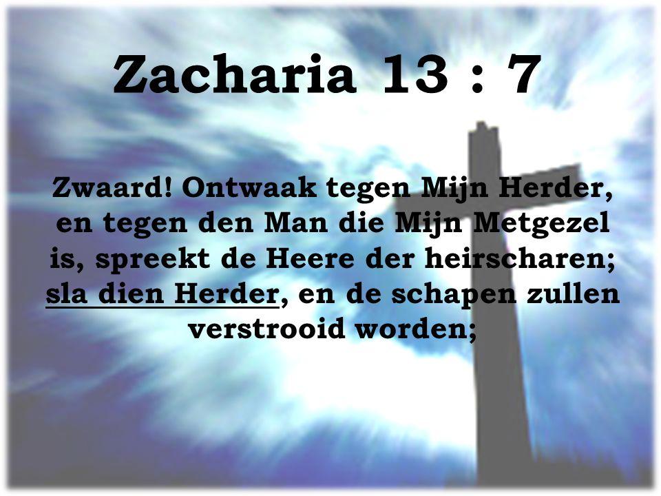Zacharia 13 : 7