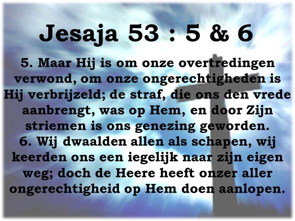 Jesaja 53 : 5 & 6