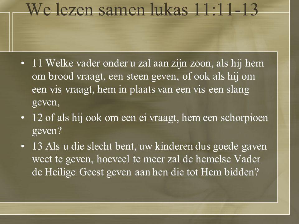 We lezen samen lukas 11:11-13