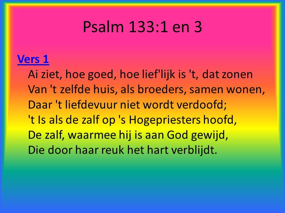 Psalm 133:1 en 3
