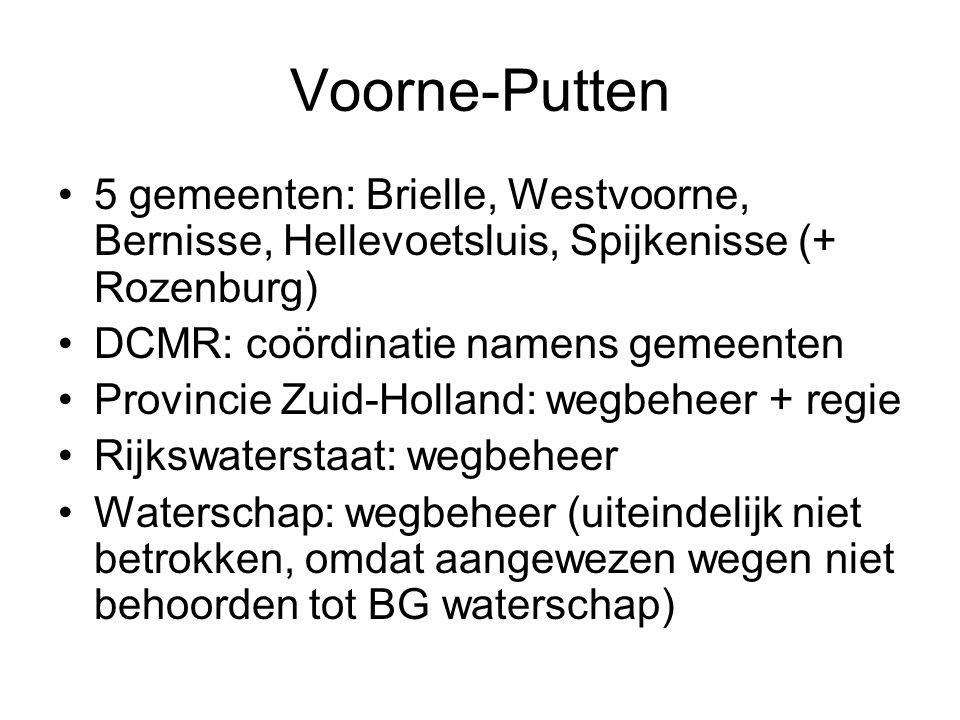 Voorne-Putten 5 gemeenten: Brielle, Westvoorne, Bernisse, Hellevoetsluis, Spijkenisse (+ Rozenburg)