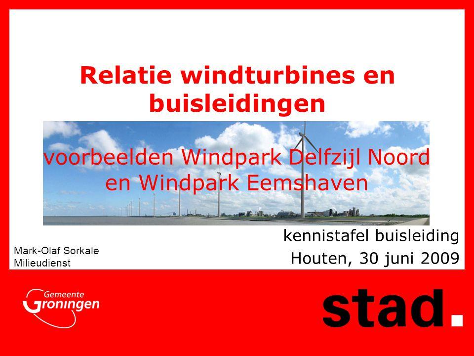voorbeelden Windpark Delfzijl Noord en Windpark Eemshaven