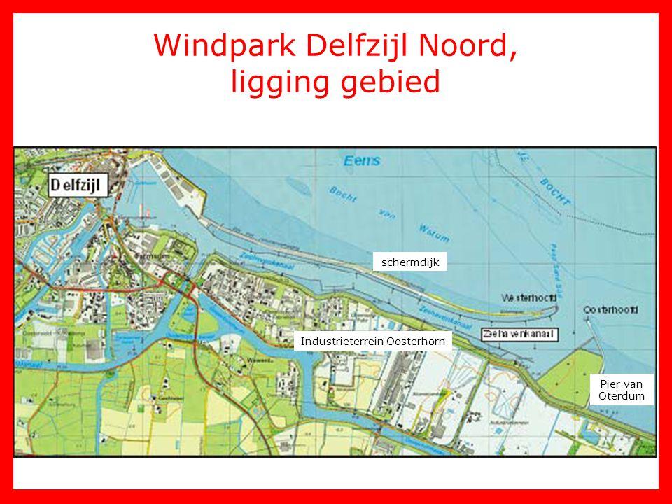 Windpark Delfzijl Noord, ligging gebied