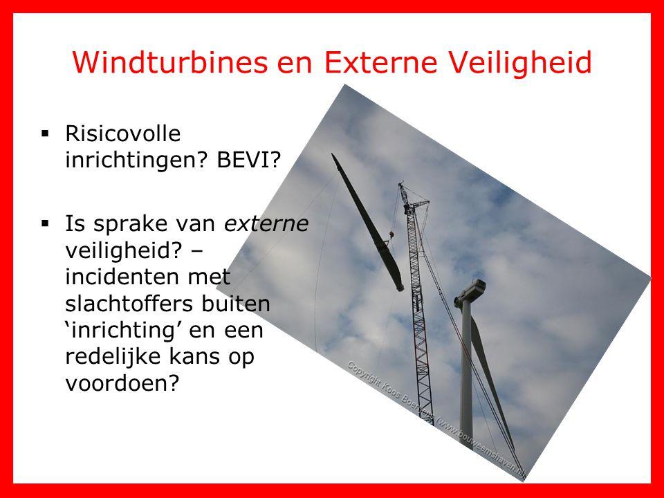 Windturbines en Externe Veiligheid
