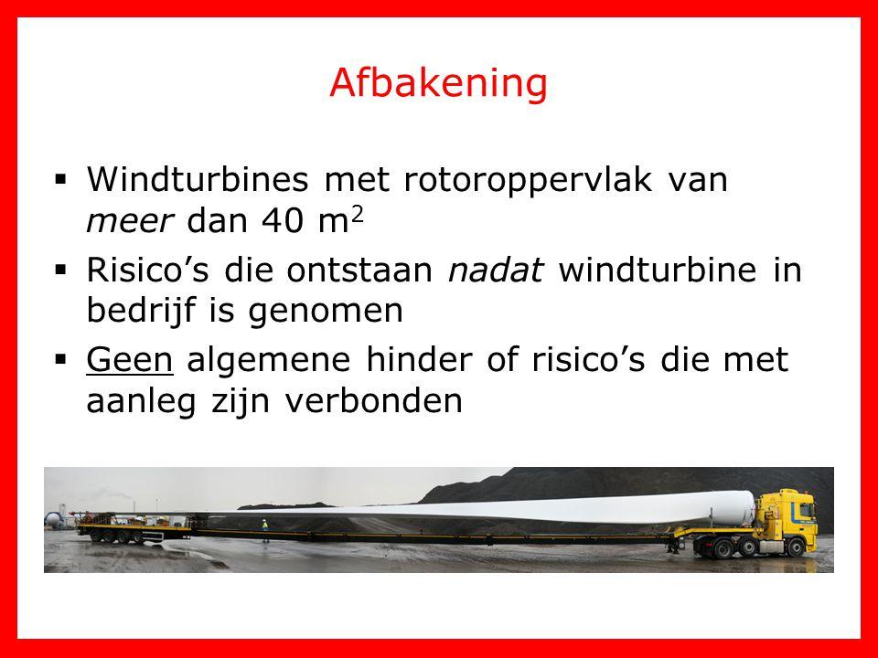 Afbakening Windturbines met rotoroppervlak van meer dan 40 m2