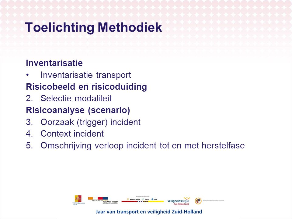 Toelichting Methodiek
